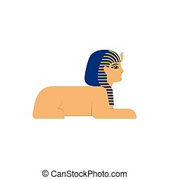 vector flat sphinx egypt creature