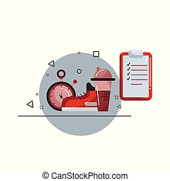 Vector flat sportive equipment illustration