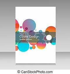 vector flat squares design information brochure cover