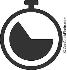Vector Flat Stopwatch Icon