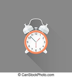 vector flat style alarm clock illustration icon