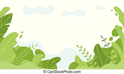background with simple abstract leaves