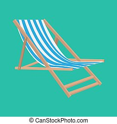 Vector flat style beach chair illustration