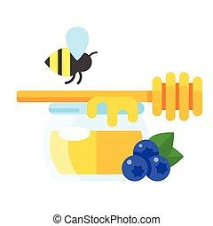 colorful honey illustration