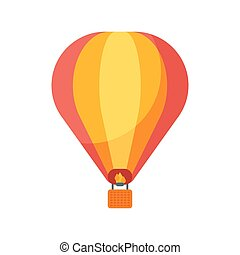 Vector flat style illustration of balloon.