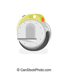 Vector flat style illustration of battery-powered electric...