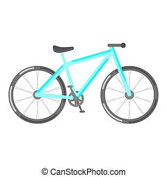 Vector flat style illustration of bicycle.