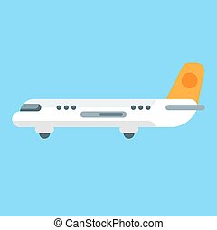 Vector flat style illustration of aircraft.