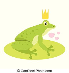 frog with golden crown
