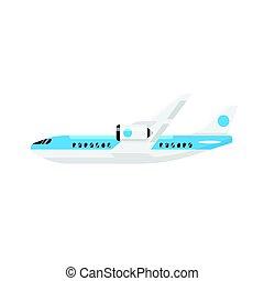Vector flat style illustration of plane.