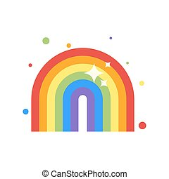 Vector flat style illustration of rainbow.