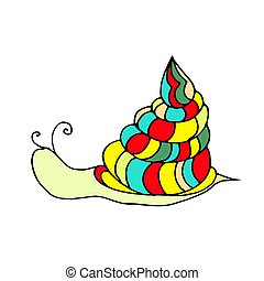 illustration of snail.