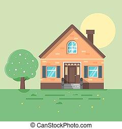 illustration of spring house.