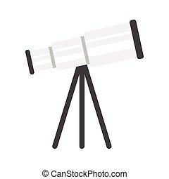 illustration of telescope