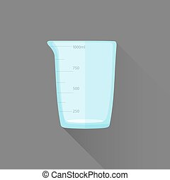 vector flat style measures glass illustration icon