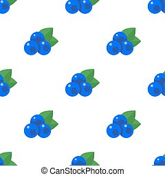 seamless pattern with blueberries
