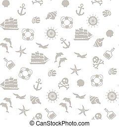 seamless pirate monochrome pattern.