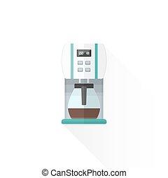 vector flat style white coffee machine illustration