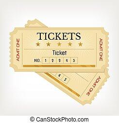 Vector flat tickets illustration