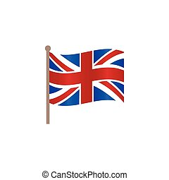 vector flat union jack britain flag icon