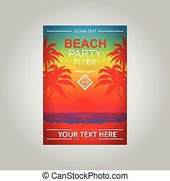 Vector flayer Beach Party