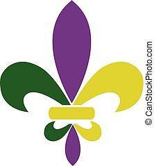 fleur de lis - vector fleur de lis mardi gras