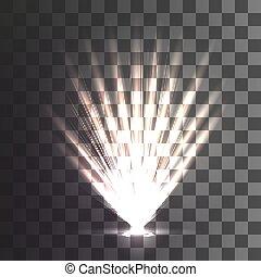 floodlights on a transparent background