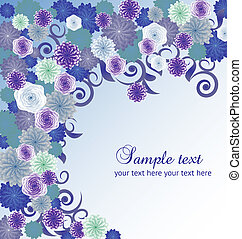Vector floral abstract background.