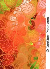 Vector floral background of hand drawn lines