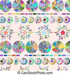 Vector floral background pattern. Cute image for design