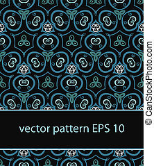 vector floral background seamless pattern