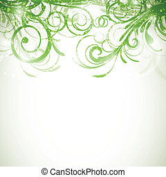 Vector Floral Background - Vector Illustration of an...