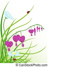 floral background with camomiles
