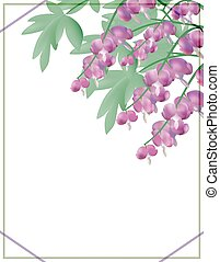 Vector floral background with flowers. EPS10