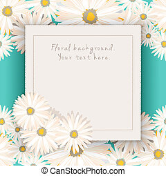 Vector floral background. Your text here.