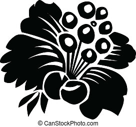 Vector Floral Berry Ornament