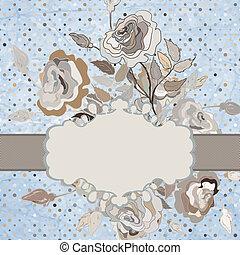 Vector floral border. And also includes EPS 8