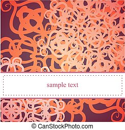 Vector floral card or invitation