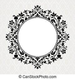 Vector Floral Circle Frame