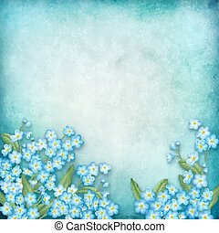 Vector floral composition on watercolor background