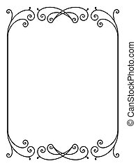 vector, floral, decoratief, decoratief, frame