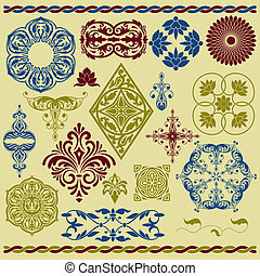 Vector Floral Design Elements