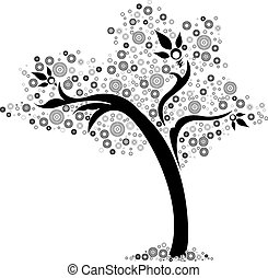 Vector - floral design of a tree