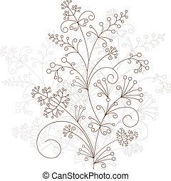 Vector floral design, ornament