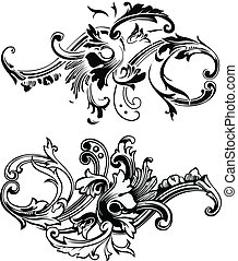 Vector Floral Element.  Colors are easily edited.