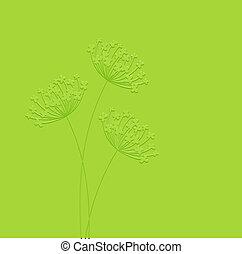vector, floral, fondo.