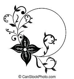 Vector floral frame; clip-art