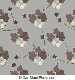 Vector floral gooseberry seamless pattern