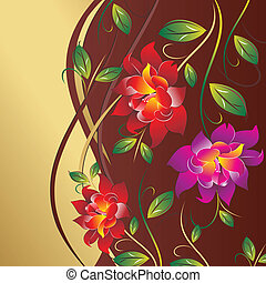 Vector floral greeting card