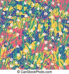 Vector floral grunge pattern